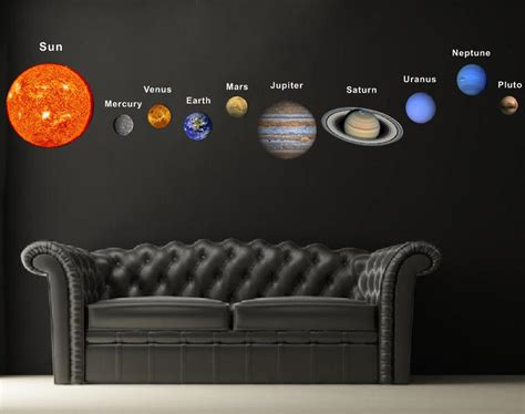 solar system wall stickers pop decors fabric wall sticker solar planets
