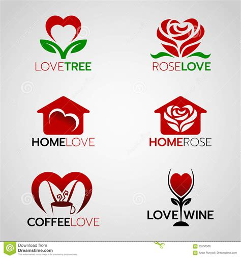 House Apartment Design Plans by Heart And Rose Logo Home Love Logo And Coffee And Wine
