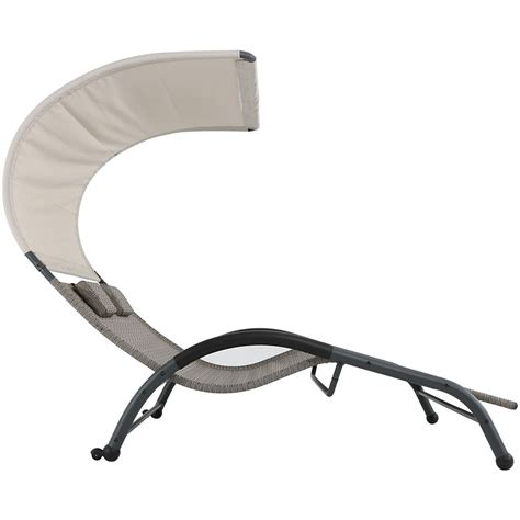 outdoor double chaise lounge with canopy sunnydaze outdoor double chaise lounger sunbed w canopy pillows color options ebay