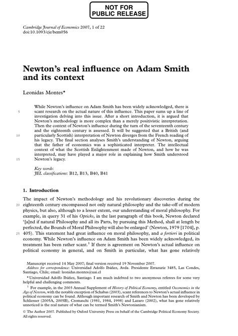 Adam Smith In Context pdf newton s real influence on adam smith and its context
