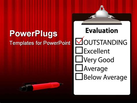 An Evaluation For Job Performance Red Check Mark In The Performance Appraisal Ppt Templates Free