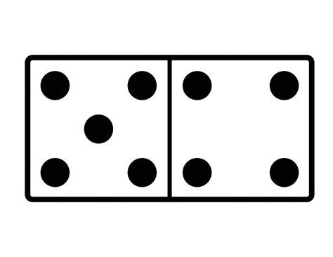 printable dice spots domino with 5 spots 4 spots clipart etc