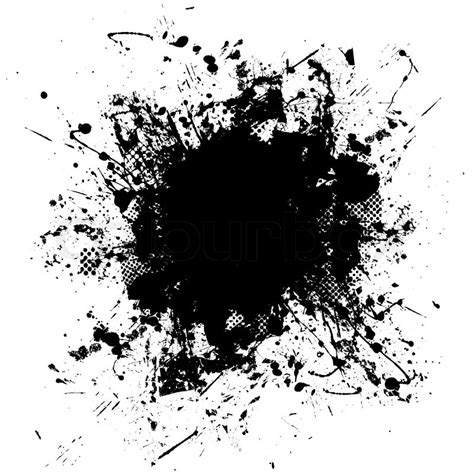 black and white ink patterns black and white ink splat design with half tone pattern