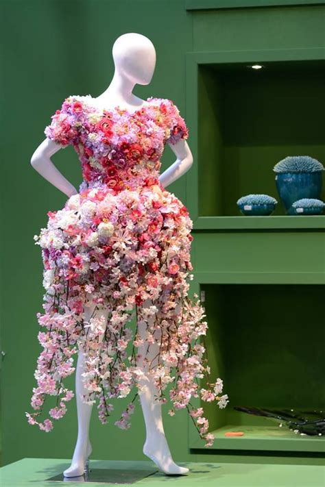 Flowers Dress floral dress floral garden displays with mannequins