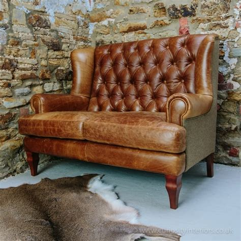 Leather And Tweed Sofa New Jersey Leather Tweed Wool Sofa Range From Curiosity