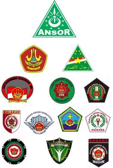 logo logo   organisasi nu banom banomnya banser