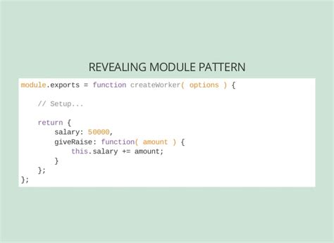 module pattern node js node architecture and getting started with express