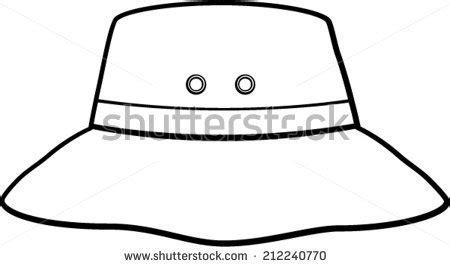 fishing hat coloring page bucket hat stock vector 212240770 shutterstock