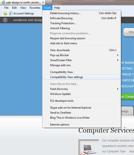 wordpress layout internet explorer how to enable compatibility view in internet explorer