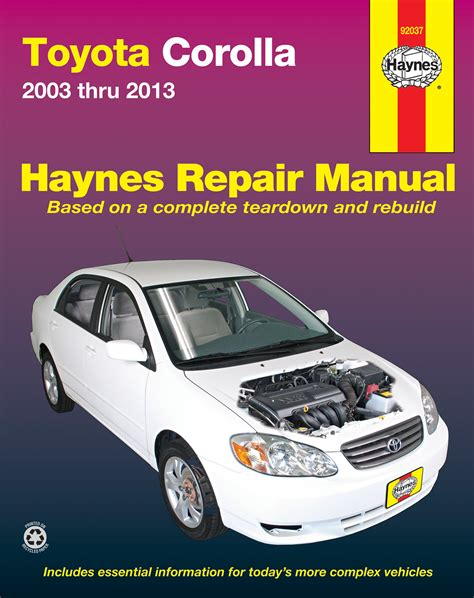 what is the best auto repair manual 2003 chrysler town country parking system toyota corolla 03 13 haynes repair manual usa haynes manuals