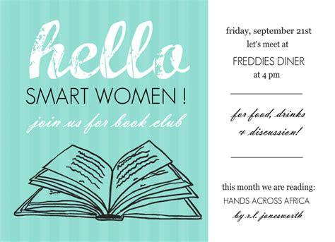 book club invites turquoise hello book club invites