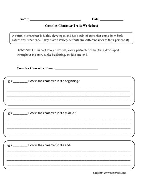 Character Traits Worksheet Pdf by Reading Worksheets Character Traits Worksheets