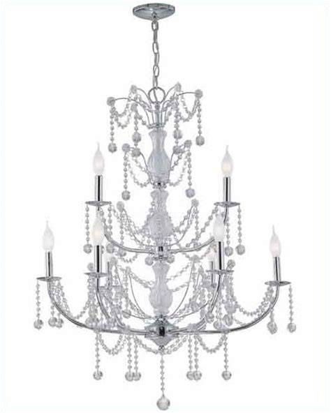 Ls And Chandeliers Lite Source 9 Lite Chandelier L In Chrome Crystals Ls El 10013