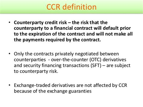 counterparty credit risk general review