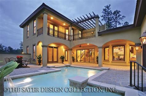 home design story aquadive pool two story house plans sater design collection