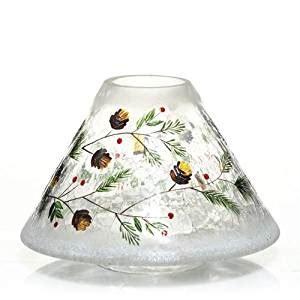 jar l shade yankee candle pinecone crackle jar shade home kitchen