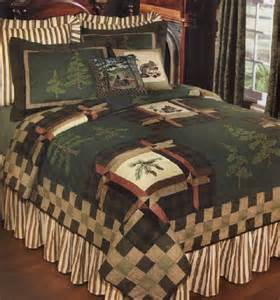 Lodge Bedding Sets Forest Trail Quilt And Lodge Bedding