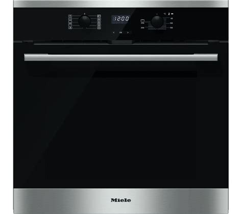 Oven Miele buy miele h2561bp electric single oven black steel