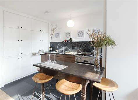Minimal Kitchen with Hidden Storage Cabinets and Drawers