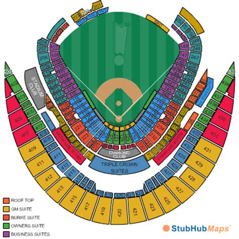 kauffman stadium seating chart  seat numbers
