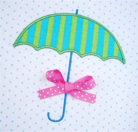 umbrella applique pattern umbrella machine embroidery design applique two sizes
