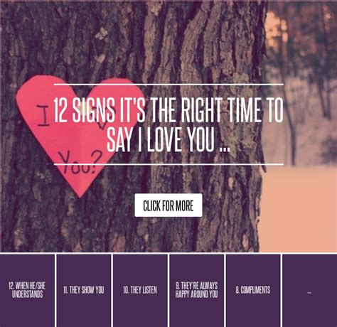 12 Signs Its The Right Time To Say I You by 12 Signs It S The Right Time To Say I You