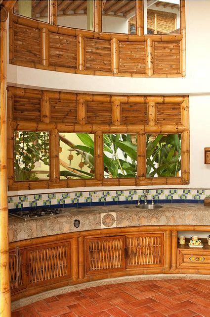 canas de cocina rusticas dise 209 os de cocinas con guadua maria bamb 250 pinterest