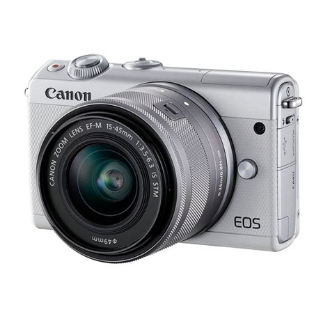 Canon Eos M100 Kit 15 45mm by Fotocamera Canon Eos M100 Kit 15 45mm Is Stm Bianco