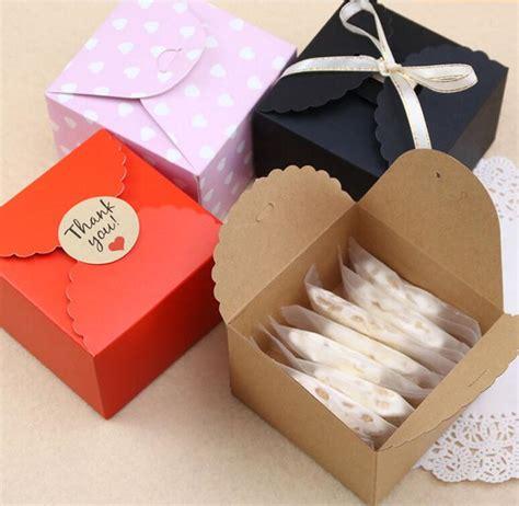 Box Segi Packing Cookies Packing Kue Roti Cake Souvenir Kado 9x9x6cm Kraft Packaging Box Baking Cookies Cake Food Packaging Gift Cardboard Box Cajas