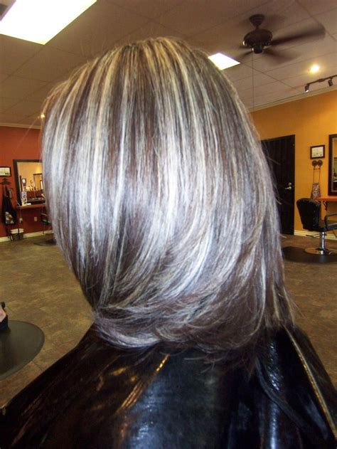 photographs of grey hair with highlights gray highlights in dark brown hair google search hair
