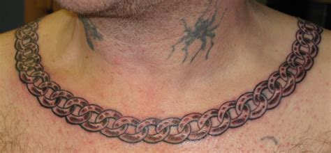 chain design tattoos necklace st