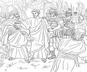 coloring page jesus arrested friday 9 ninth station jesus falls the third time