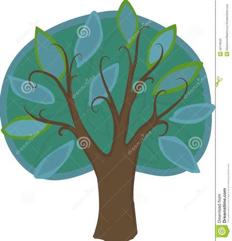 Kemeja Green Blue Leaf deciduous tree isolated stock illustration illustration of drawing botany 42718520