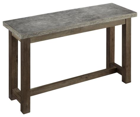 transitional console table concrete chic console table transitional console