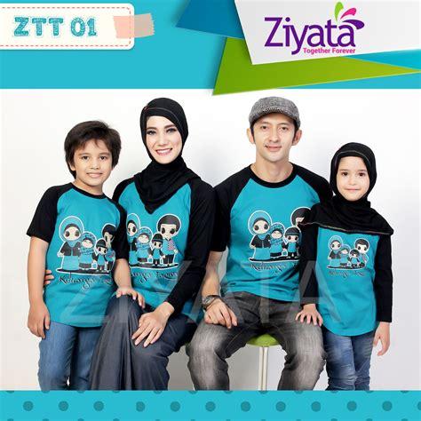 jual baju family ziyata kaos keluarga muslim ztt 01