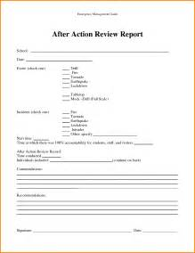 After Report Outline by Doc 585650 After Review Template Sle After Review Template 7 Documents In