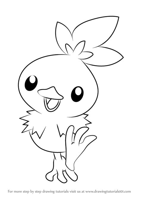 pokemon coloring pages torchic learn how to draw torchic from pokemon pokemon step by