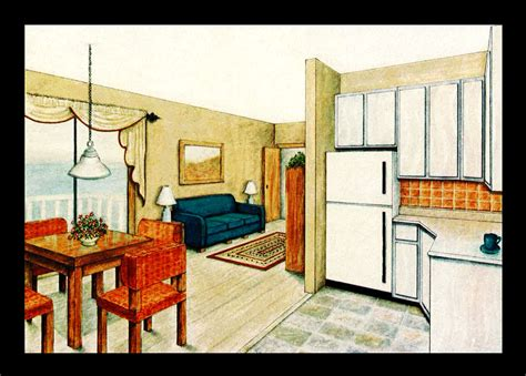 Draw A Floorplan floor and elevation renderings by laurie davis at coroflot com