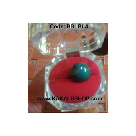 Cincin Bulat Warna batu bacan bentuk bulat warna biru lumut toko