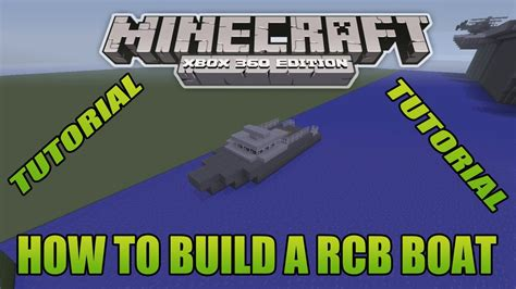how to build a working boat in minecraft no mods minecraft xbox edition tutorial how to build a rcb boat