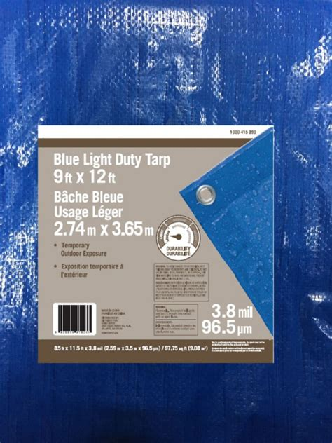 everbilt 9 x 12 all purpose blue tarp the home