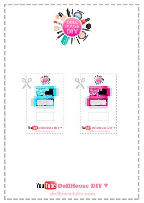 dollhouse lashes miniature cosmetics tutorials dollhouse diy