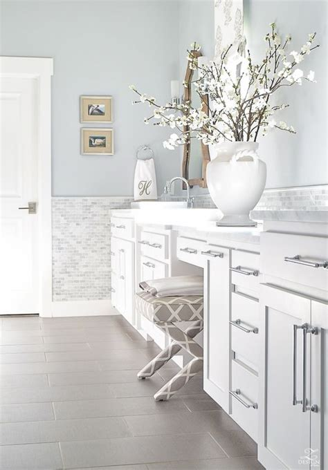 Bathroom Wall Colors With White Cabinets by One Carrara Marble Bathroom Four Colours Killam