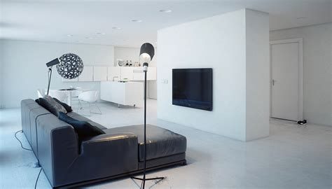 minimalism design a super minimalist modern apartment in white