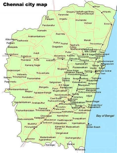 political map of chennai untitled page www indiacitytrip