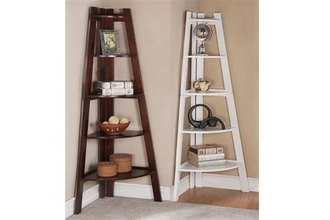 5 tier corner shelf book shelf bookcase stand home decor