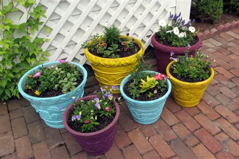 Colorful Planters by Up Colorful Planters Stuff Steph Does