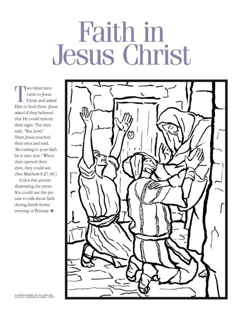 lds coloring pages faith in jesus christ lds coloring pages 2018 2009
