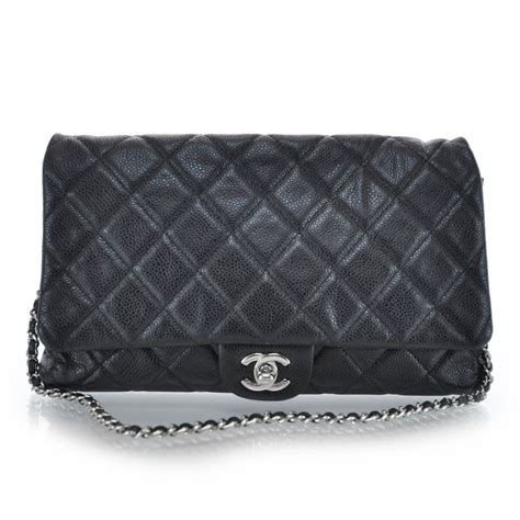 Chanel Quilted Clutch Bag by Chanel Caviar Quilted Clutch Flap Bag Black 29989