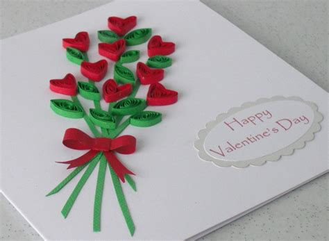paper daisy cards quilled mother s day card quilled hearts bouquet valentine card with personalized